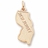 Gold Plated New Jersey Charm by Rembrandt Charms