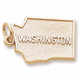10K Gold Washington Charm by Rembrandt Charms