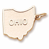 10K Gold Ohio Charm by Rembrandt Charms