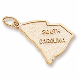 10K Gold South Carolina Charm by Rembrandt Charms