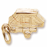 Gold Plated Tent Trailer Charm by Rembrandt Charms
