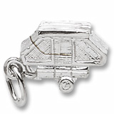 14K White Gold Tent Trailer Charm by Rembrandt Charms