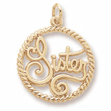 10K Gold Sister Charm by Rembrandt Charms