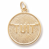 10K Gold I'll Get Round TUIT Charm by Rembrandt Charms
