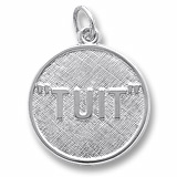 14K White Gold I'll Get Round TUIT Charm by Rembrandt Charms