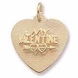 Gold Plated My Valentine Heart Charm by Rembrandt Charms