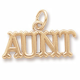 Gold Plate Aunt Charm by Rembrandt Charms