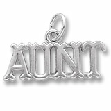 Sterling Silver Aunt Charm by Rembrandt Charms