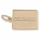 10K Gold Colorado Charm by Rembrandt Charms