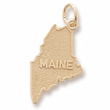 10K Gold Maine Charm by Rembrandt Charms