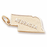Gold Plated Nebraska Charm by Rembrandt Charms