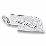 14K White Gold Nebraska Charm by Rembrandt Charms