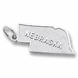 Sterling Silver Nebraska Charm by Rembrandt Charms