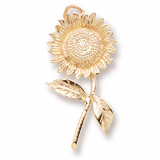 Gold Plate Sunflower Charm by Rembrandt Charms
