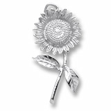 14K White Gold Sunflower Charm by Rembrandt Charms
