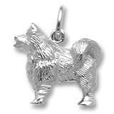 Sterling Silver Samoyed Dog Charm by Rembrandt Charms