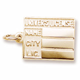 Gold Plated Driver's License Charm by Rembrandt Charms