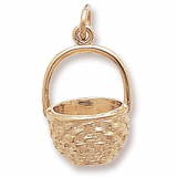 Gold Plate Basket Charm by Rembrandt Charms