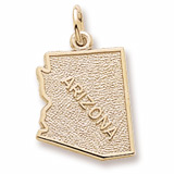 10K Gold Arizona Charm by Rembrandt Charms