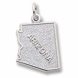 14K White Gold Arizona Charm by Rembrandt Charms