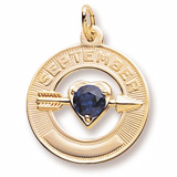 Gold Plated September Month of Love Charm