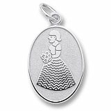 14k White Gold Bridesmaid or Flower Girl by Rembrandt Charms
