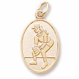 10K Gold Female Softball Player Charm by Rembrandt Charms