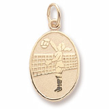 Gold Plated Volleyball Player Charm by Rembrandt Charms