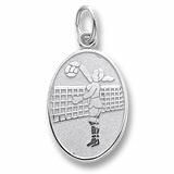 14K White Gold Volleyball Player Charm by Rembrandt Charms