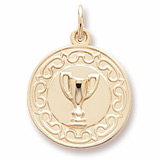 Gold Plated Trophy Cup Charm by Rembrandt Charms
