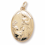 14K Gold Our Lady St Bernadette Charm by Rembrandt Charms