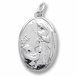 14K White Gold Our Lady St Bernadette Charm by Rembrandt Charms