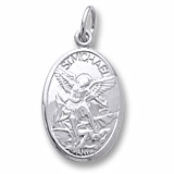 14K White Gold Saint Michael Charm by Rembrandt Charms