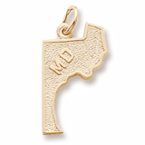 10K Gold Maryland Charm by Rembrandt Charms