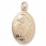 14K Gold Saint Francis Charm by Rembrandt Charms