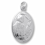 14K White Gold Saint Francis Charm by Rembrandt Charms