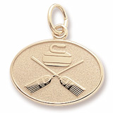 Gold Plated Curling Charm by Rembrandt Charms