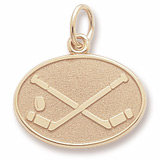 14K Gold Hockey Disc Charm by Rembrandt Charms