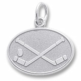 14K White Gold Hockey Disc Charm by Rembrandt Charms