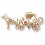 10K Gold Horse and Surrey Charm by Rembrandt Charms