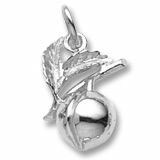 14K White Gold Peach Charm by Rembrandt Charms