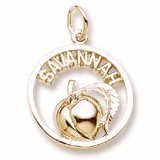 10K Gold Savannah Peach Charm by Rembrandt Charms