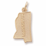 Gold Plated Mississippi Charm by Rembrandt Charms