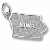 14K White Gold Iowa State Map Charm by Rembrandt Charms