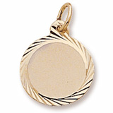 14K Gold Small Faceted Disc Charm by Rembrandt Charms