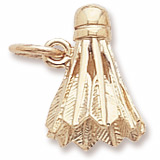 Gold Plated Badminton Birdie Charm by Rembrandt Charms