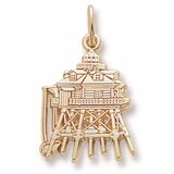 14K Gold Thomas Point Lighthouse Charm by Rembrandt Charms
