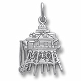 14K White Gold Thomas Point Lighthouse Charm by Rembrandt Charms