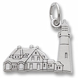 14K White Gold Portland Head Lighthouse Charm by Rembrandt Charms