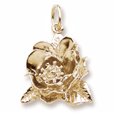 10K Gold Magnolia Flower Charm by Rembrandt Charms